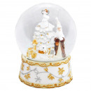 Restanten Snowglobe Kerstman boom wit 150mm Bubble