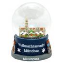 Souvenir Schneekugel Weihnachtsmarkt München
