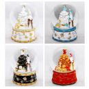 Snow Globe Santa Claus sort 4x 120mm