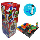 wholesale Blocks & Construction: Games - COMBIS 66 PIECES WITH CLOCK