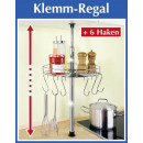 wholesale Small Parts & Accessories: WENKO telescope  kitchen shelf incl. 6 hooks