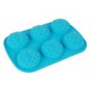 groothandel Bakken: Silicone Muffin  ovenschaal  chrysant voor 6 ...