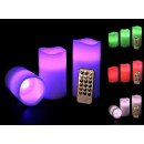 grossiste Lampes: 3 SET - LED vraie  cire bougie avec changement de c