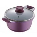 wholesale Pots & Pans: Ceramic pot with lid  Lila  Ø 28 cm