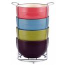 grossiste Plats: Vabene Cereal  Bowls Set 5-pc. 4 tasses en céramiqu