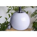 wholesale Garden & DIY store: Ball oil lamp  ceramic  white  Ø 15 cm Garden Balco