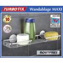 wholesale Small Parts & Accessories: WENKO Turbofix  wall shelf MAXI Aluminium