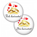 6 SET Revers Button Bachelor