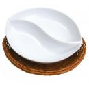 grossiste Plats: Bol en porcelaine  avec panier / dip ou une collati