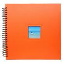 grossiste Classeurs et dossiers: Henzo Album  spiralé XXL  Orange  42 pages
