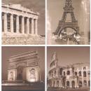 groothandel Foto's & lijsten: 4  muurschilderingen  van 50 x 50 cm ...