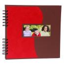 grossiste Classeurs et dossiers: Panodia album  spirale rouge / marron 23 x 24 cm