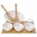 9-częściowy zestaw Bamboo Salad Bowl / Chiny