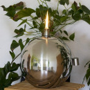 wholesale Garden Decoration & Illumination: Stainless steel  ball oil lamp Ø 20 cm stainless st