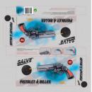 grossiste Cadeaux et papeterie: pistolet pompe crosse marron 30cm