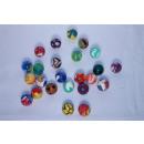 Gekleurde rubberen bal, 27mm
