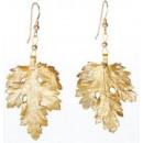 Großhandel Ohrringe: Chrysanthemblatt, vergoldete Ohrringe