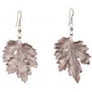 Großhandel Ohrringe: Chrysanthemblatt,  rosévergoldete Ohrringe