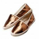 wholesale Shoes: Espandrilles, metal look, Gr. 40