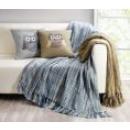 Decke mit Fransen braun