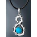 groothandel Sieraden & horloges: Carla Mutoni Chain   Marisa , 925 Silver, Turquoise