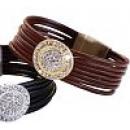 Leder-Armband Marisa braun-gold