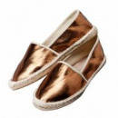 wholesale Shoes: Espandrilles, Metalloptik, Gr. 38