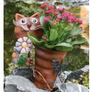 Großhandel Blumentöpfe & Vasen: Katze mit Blumen und Blumentopf