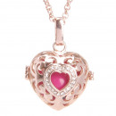 wholesale Jewelry & Watches: Angel Caller necklace rose gold heart