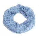 wholesale Jeanswear: Loop with design   Blütenmeer  Jeansblau