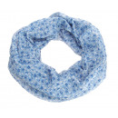 ingrosso Jeans: Loop con il design   Blütenmeer  Jeansblau