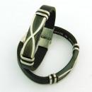 Großhandel Schmuck & Uhren: Stahl und Leder  Armbänder 10x3 in Spanien Black 3