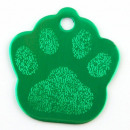 wholesale Pet supplies: Aluminum sheet Footprint pet. GREEN