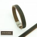 groothandel Sieraden & horloges: Leer en stalen  armbanden. 3mm huid ponsen 02