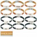 groothandel Sieraden & horloges: 1.5mm staal en  lederen armband. Made in Spain Asso