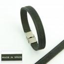 Großhandel Schmuck & Uhren: Leder und Stahl  Armbänder. 3mm Haut 04 Stanzen