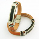 wholesale Jewelry & Watches: Steel leather  handmade bracelets Made Spain Brown