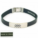 1.5mm steel  bracelet leather  Made in Spain 5 ...