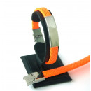 wholesale Jewelry & Watches: Leather and  Stainless Steel bracelet ORANGE
