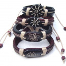 Leather and bone  bracelets. Assorted Pack