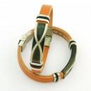 grossiste Bijoux & Montres: bracelets en acier  et cuir 10x3 Made in Spain Brow