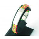 groothandel Sieraden & horloges: Leren armband voor het opnemen en veelkleurige sta