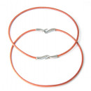 wholesale Haberdashery & Sewing: Colored leather  cord necklace. LIGHT BROWN