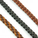 3 braided Leather  bracelet. Classic design