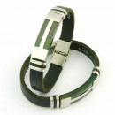 Großhandel Schmuck & Uhren: Stahl und Leder  Armbänder 10x3 in Spanien Schwarz