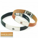 grossiste Bijoux & Montres: 1.5mm cuir  bracelet en acier  Fabriqué en ...