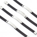 groothandel Sieraden & horloges: Armband staal en  rubber GRECA high end garnituur