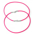 wholesale Haberdashery & Sewing: Colored leather cord necklace. PINK