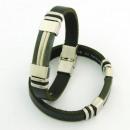 Großhandel Schmuck & Uhren: Stahl und Leder  Armbänder 10x3 in Spanien Black 2