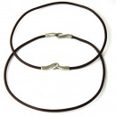 wholesale Haberdashery & Sewing: Colored leather  cord necklace. DARK BROWN